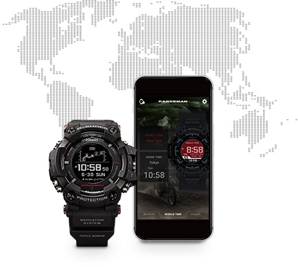 Bluetooth Smartphone Pairing to Connect with G-SHOCK Connected App