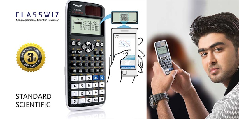 Standard Scientific calculators