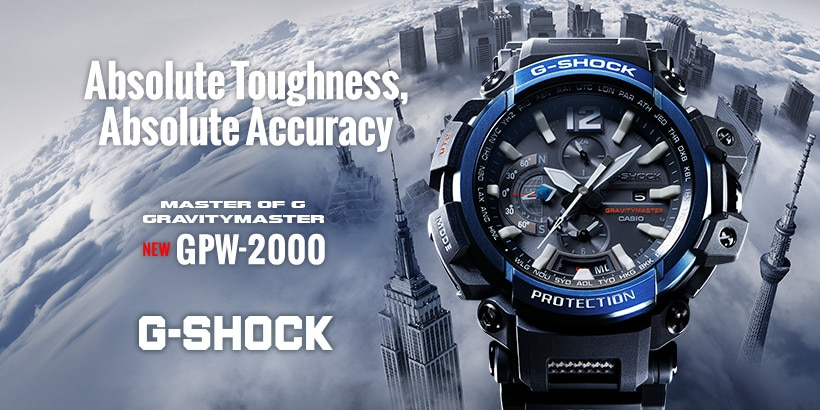 G-SHOCK GRAVITYMASTER GPW-2000 The 3 way sync Blutooth® × GPS × Wave Ceptor
