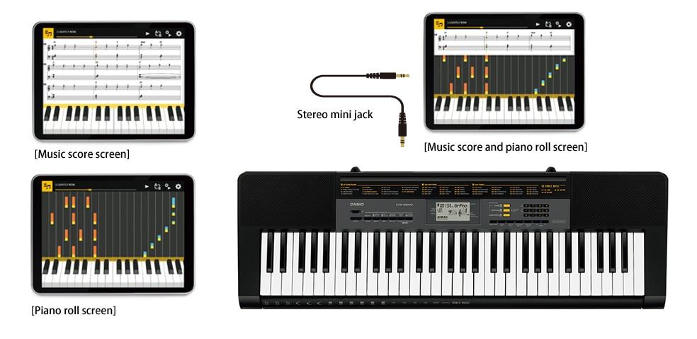 Toque o teclado enquanto estiver conectado ao aplicativo