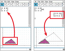 Geometric graphing using drag & drop