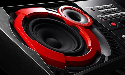 High Output Amplifiers and High Performance Bass Reflex Speakers