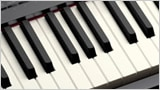 Mat finish keys for easier playability and an elegant touch