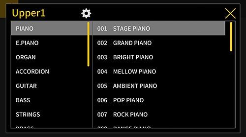 Control remoto del piano