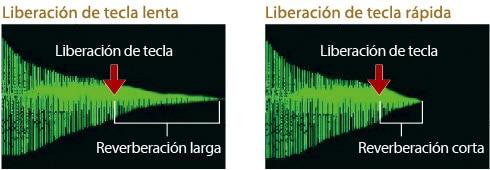 El simulador Key Off reproduce variaciones de tono que se producen al levantar el dedo