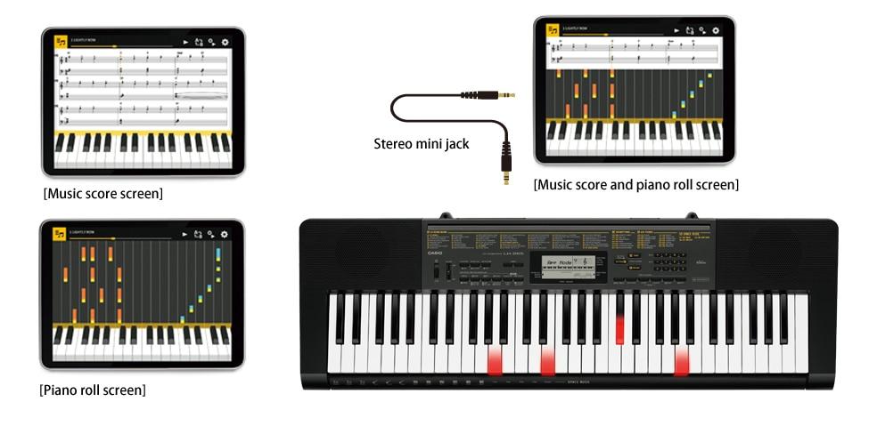 Toque el teclado mientras está vinculado a la aplicación