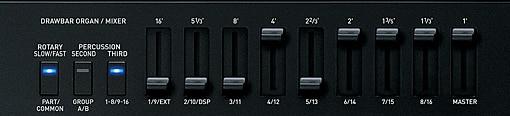 Función de órgano con barra de armónicos
