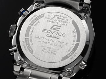 EDIFICE brand logo engraved on the back