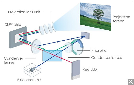 Laser & LED Hybrid Light Source