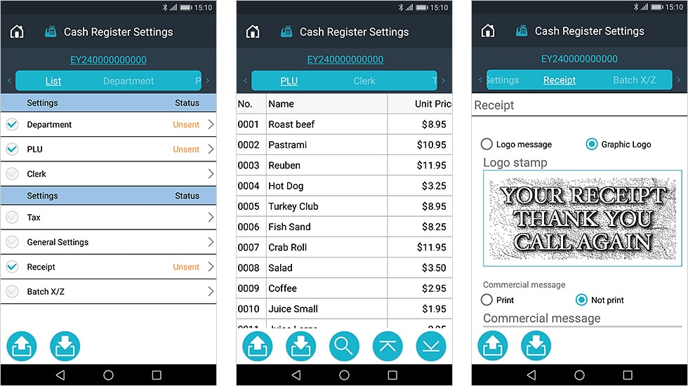Run your store in a smarter way! Use your smartphone to easily set up products and change prices on the cash register.