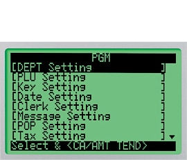 Program setting screen