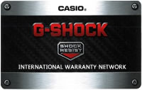 G-SHOCK International Warranty Network