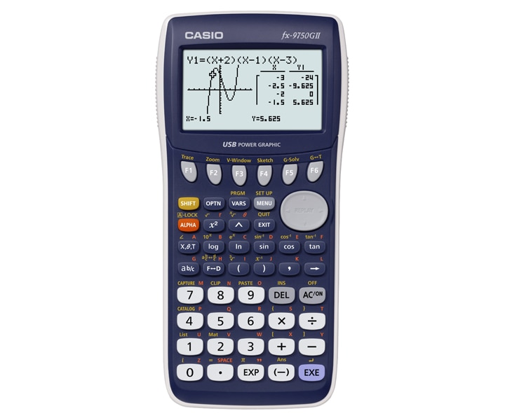 Casio fx-9750gii graphing calculator fx9750gii | ebay.