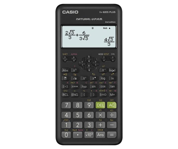 Fx 82es Plus 2 Es Plus Series Non Programmable School Lab Calculators Casio